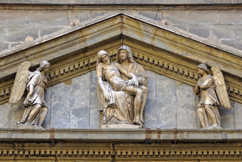La Pieta - Napoli stock afbeelding