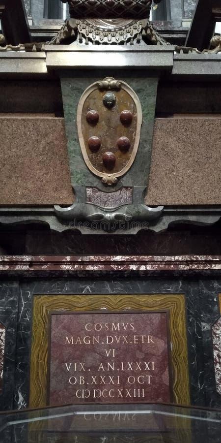 La pietra tombale di Duke Cosimo IV Medici, Firenze immagine stock