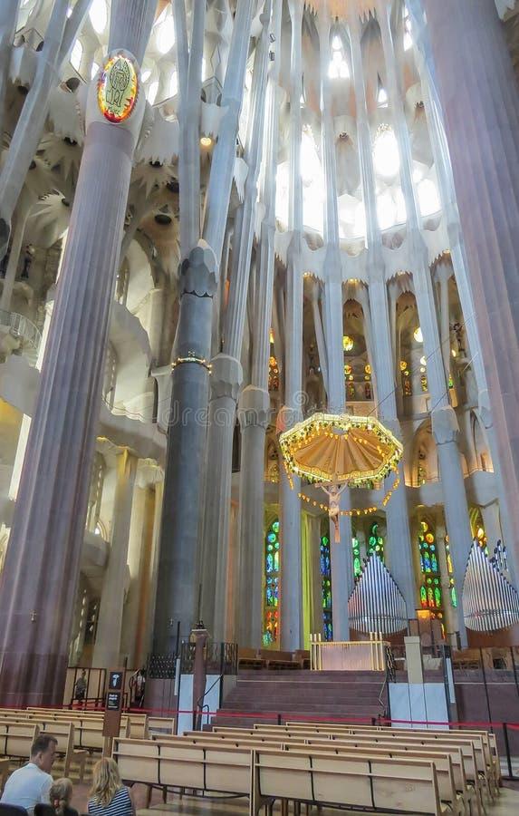 La pieza central del templo expiatorio de la familia santa Barcelona fotografía de archivo libre de regalías