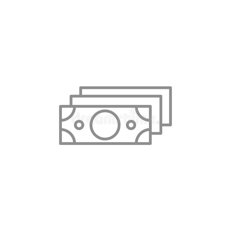 La pila de línea de los dólares enrarece el icono Vector del negocio y de las finanzas libre illustration
