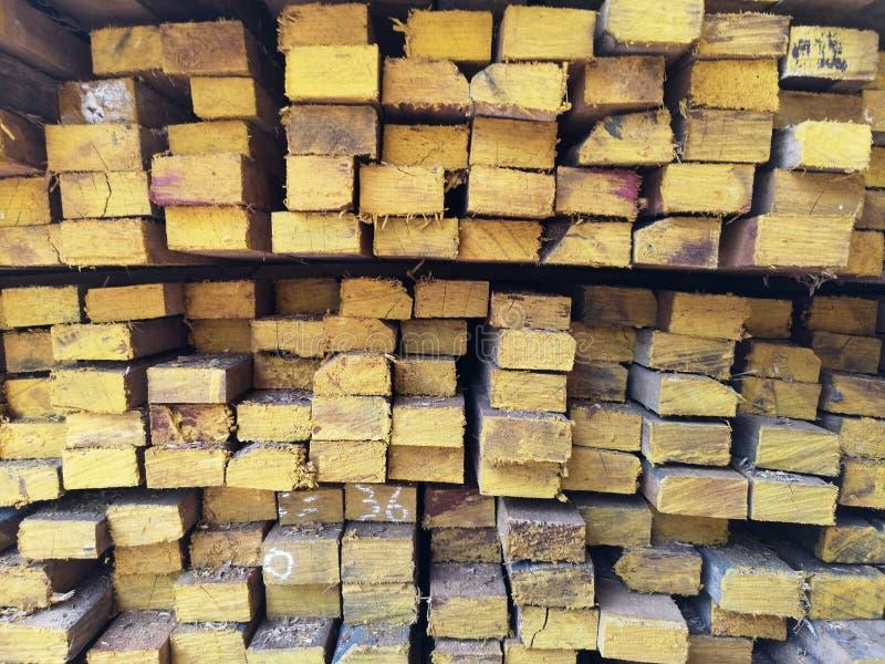 La pila di legno ha impilato insieme la natura incide i pezzi per la pianta del ‹del background†della superficie di struttura d immagini stock