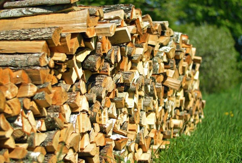 La pile de bois de chauffage photos stock
