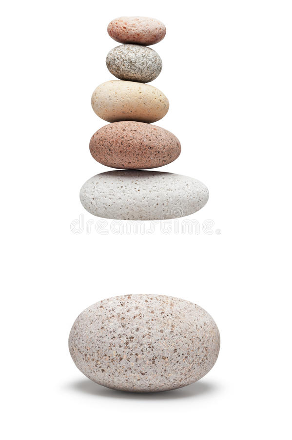 La pile de pierres de Gap bascule l'équilibre photos stock