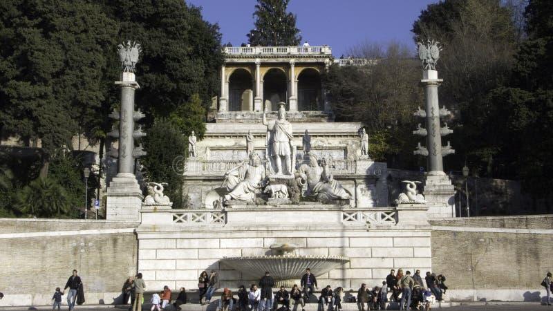 La Pincio fountain royalty free stock images
