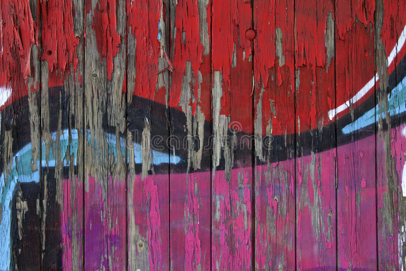 La pintada cubrió la pared foto de archivo libre de regalías