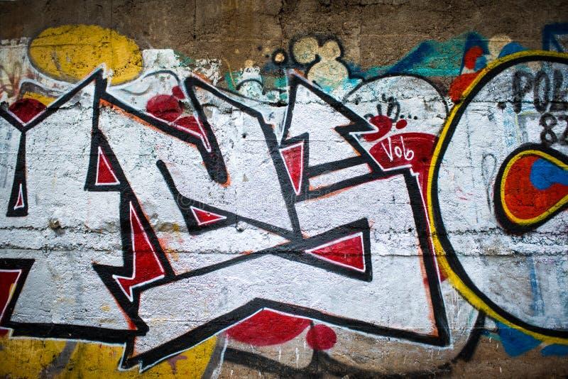 La pintada es un arte moderno de la calle ilustración del vector