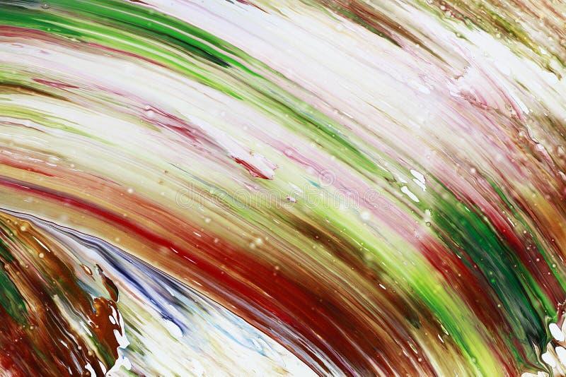 La pintura abstracta colorea el fondo fotografía de archivo
