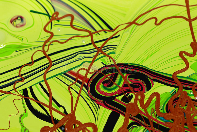 La pintura abstracta colorea el fondo fotos de archivo libres de regalías