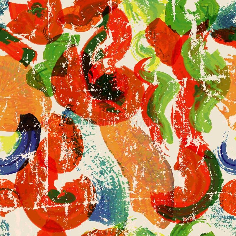 La pintura abstracta frota ligeramente el fondo inconsútil ilustración del vector
