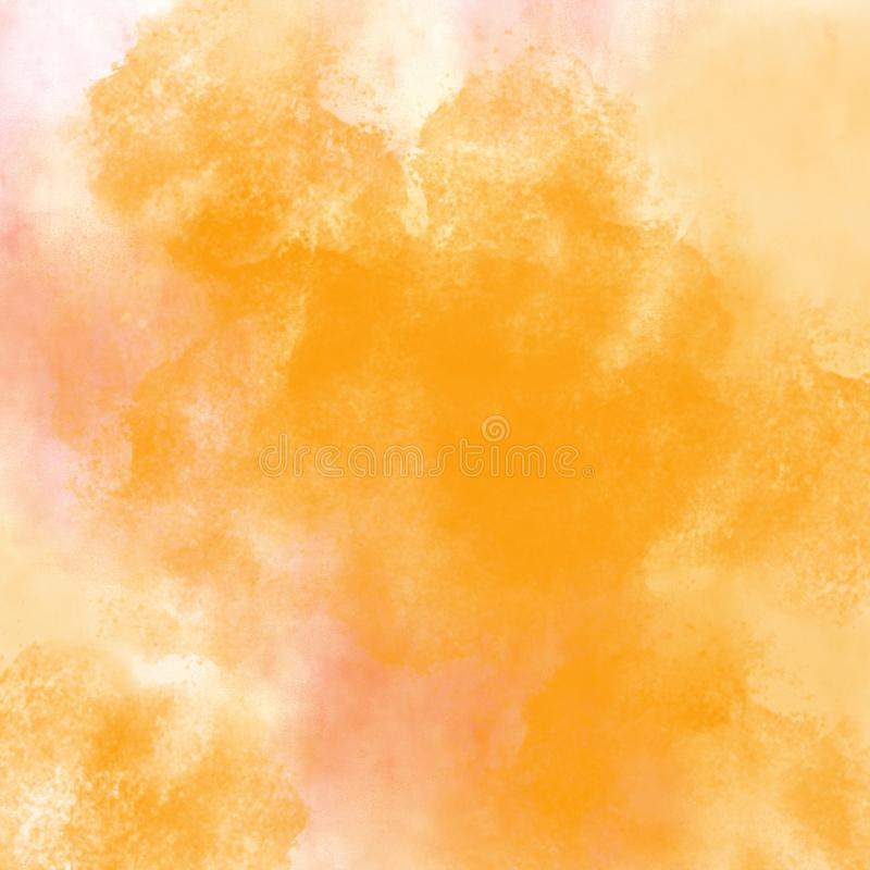 La pintura abstracta roja, anaranjada y amarilla de la acuarela texturizó al CCB libre illustration