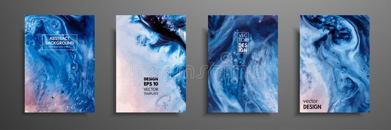 La pintura abstracta, se puede utilizar como fondo de moda para los papeles pintados, carteles, tarjetas, invitaciones, sitios we ilustración del vector