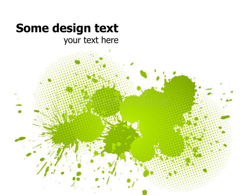 La pintura abstracta verde salpica el fondo. Vector