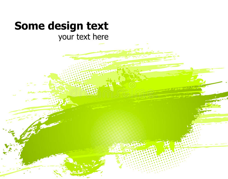 La pintura abstracta verde salpica la ilustración. Vector