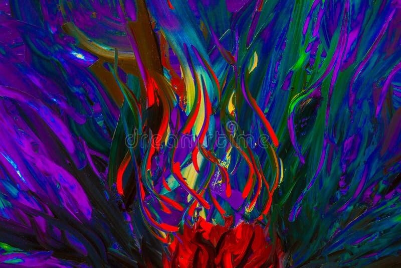 La pintura al óleo abstracta original Fondo stock de ilustración