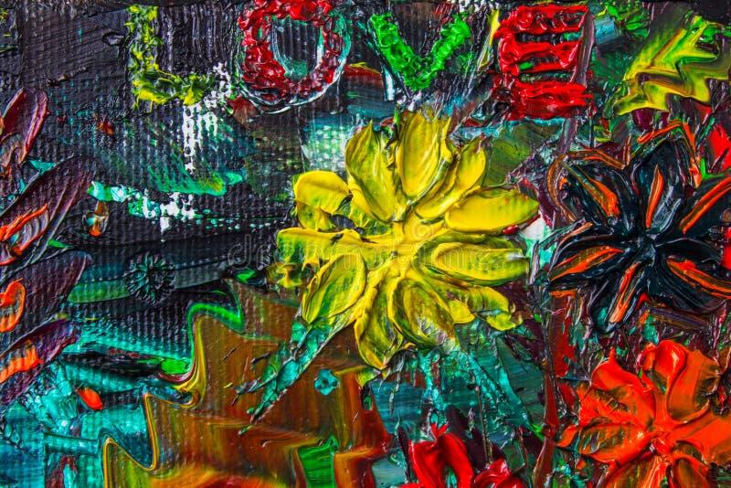 La pintura al óleo abstracta original Fondo Textura ilustración del vector