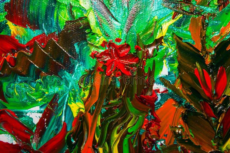 La pintura al óleo abstracta original Fondo Textura libre illustration