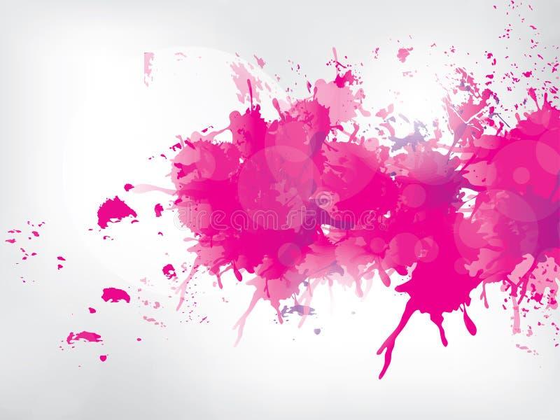 La pintura coloreada salpica en fondo abstracto stock de ilustración