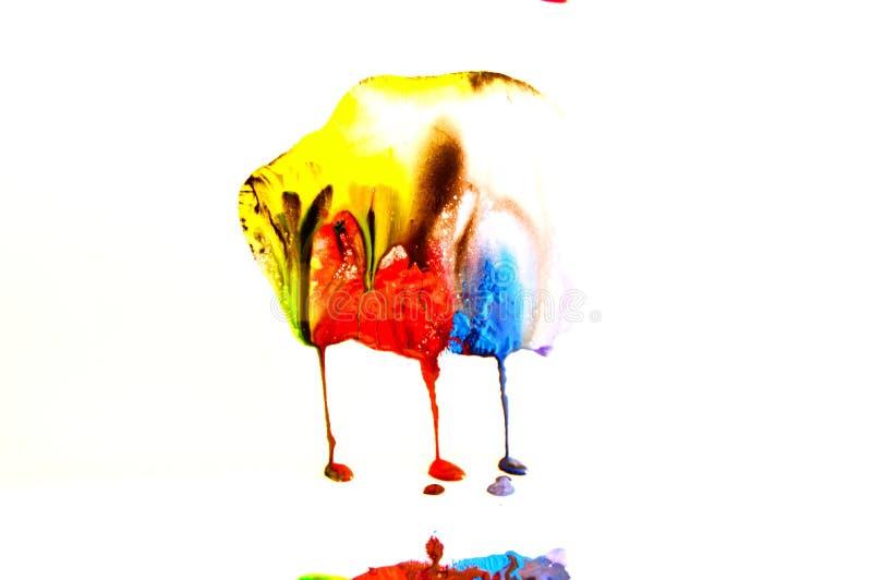 La pintura colorida salpica fotos de archivo libres de regalías