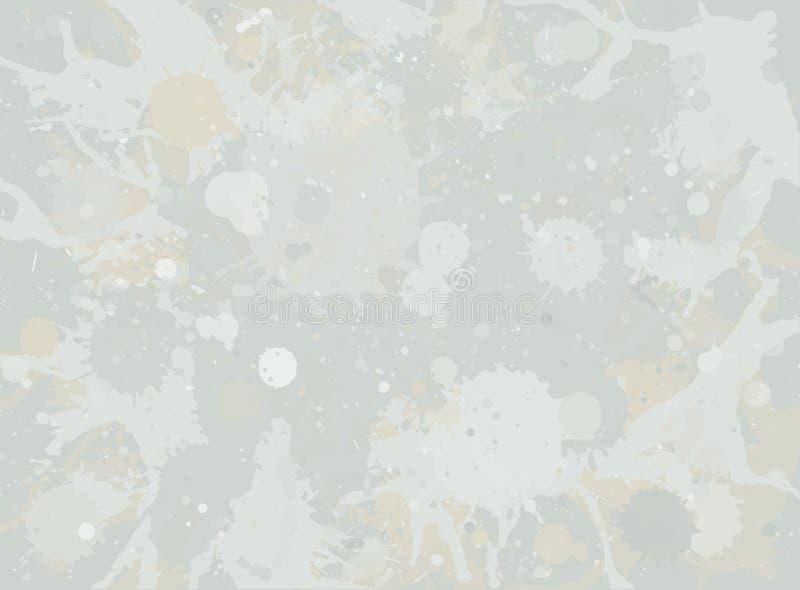 La pintura de la acuarela salpica el fondo stock de ilustración