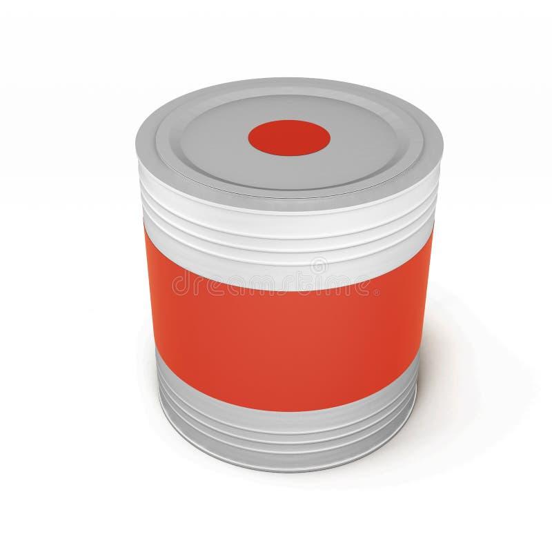 La pintura de la lata del metal puede aislado en el fondo blanco representación 3d libre illustration