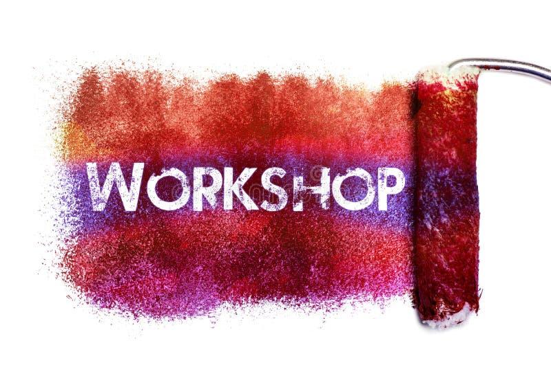 La pintura de la palabra del taller stock de ilustración