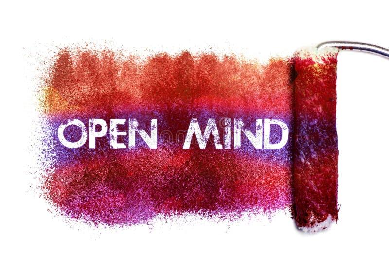 La pintura de la palabra de la mente abierta stock de ilustración