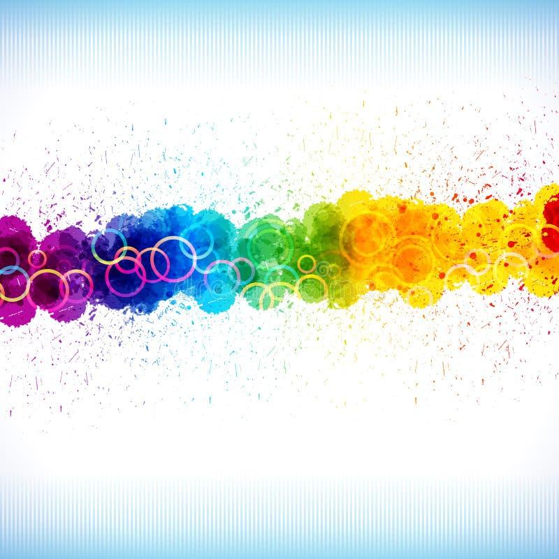 La pintura del color salpica. stock de ilustración
