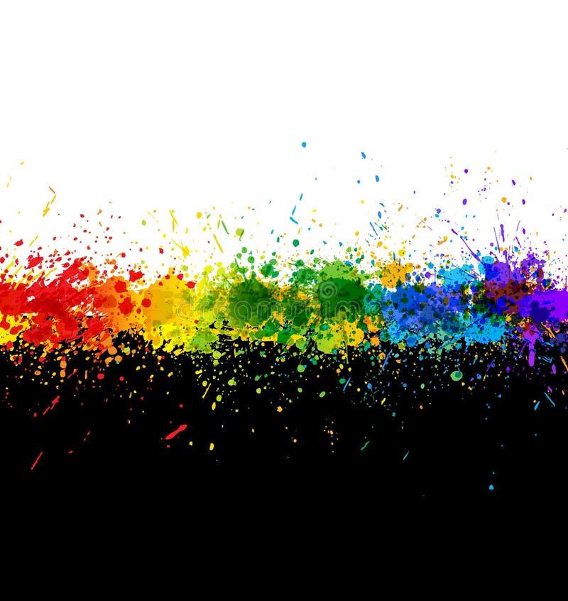 La pintura del color salpica. Fondo del gradiente stock de ilustración
