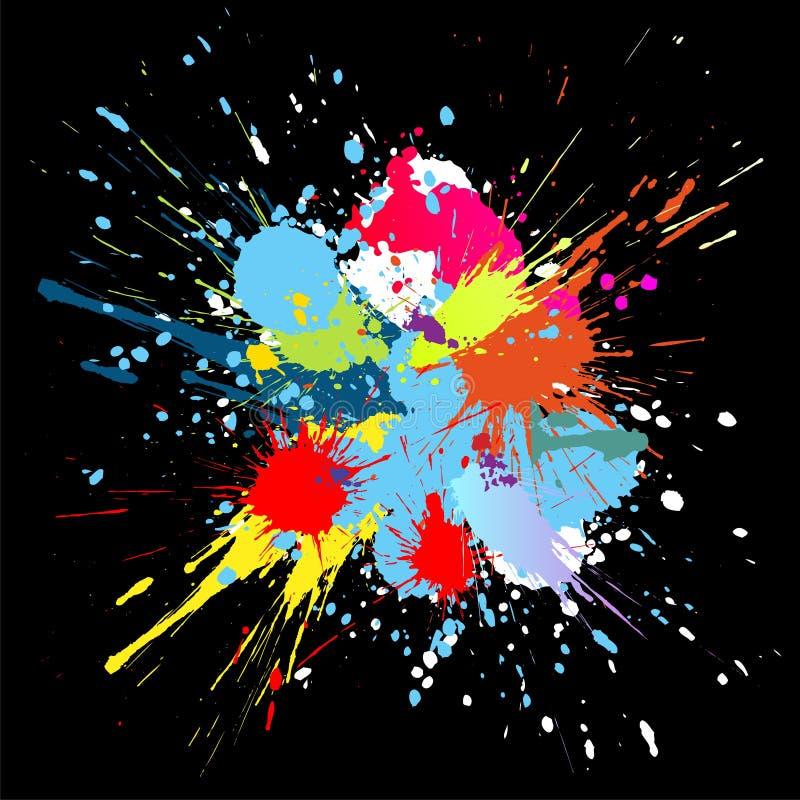 La pintura del color salpica. Fondo del vector del gradiente ilustración del vector