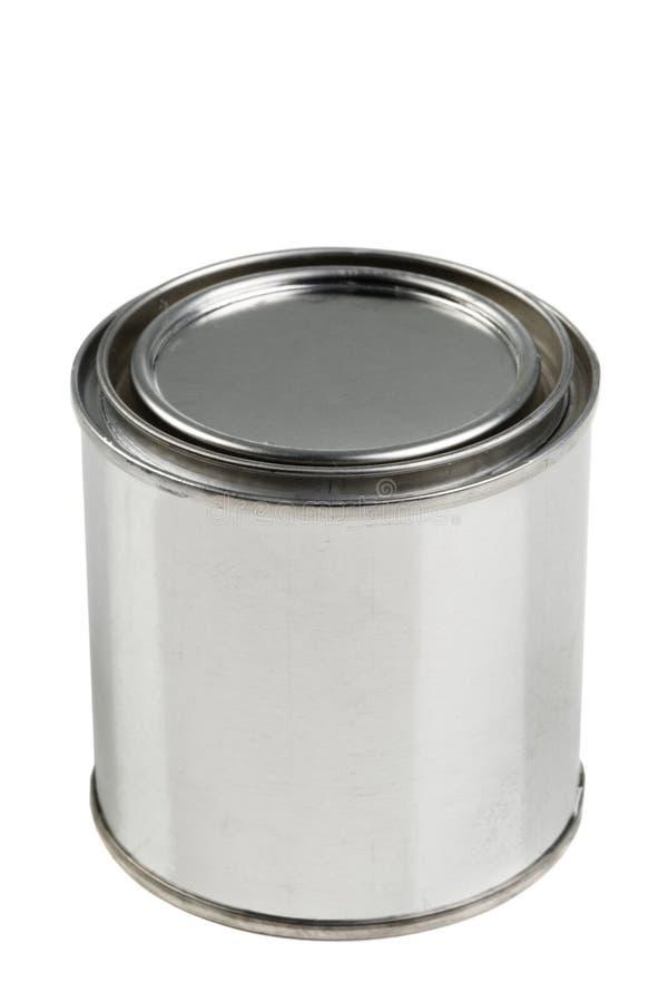 La pintura del estaño puede en un fondo blanco imagen de archivo libre de regalías