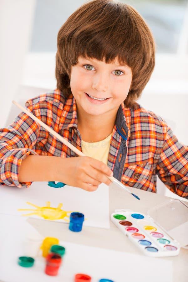 Download La pintura es diversión stock de ilustración. Ilustración de coloreado - 44851832