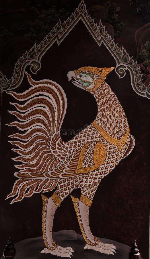 La pintura está sobre Ramayana, keaw de Wat Phra foto de archivo libre de regalías