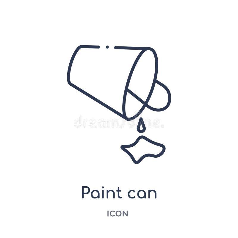 La pintura linear puede icono de corregir la colección del esquema La línea fina pintura puede vector aislada en el fondo blanco  ilustración del vector