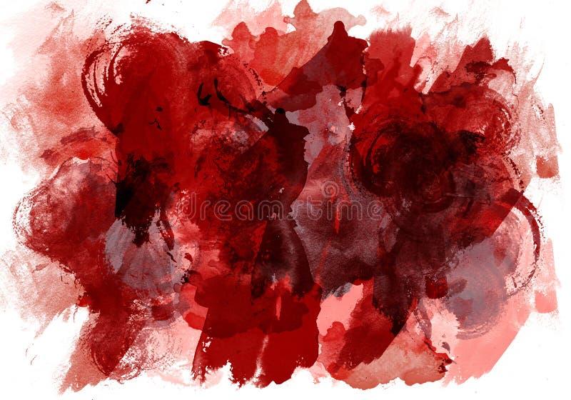 La pintura original de la acuarela de la textura del arte cae el extracto de las manchas Expresionismo abstracto de la textura stock de ilustración