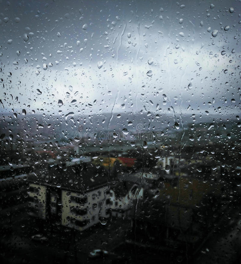 La pioggia fotografia stock libera da diritti
