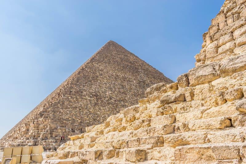 La pirámide de Cheops en Egipto imagenes de archivo