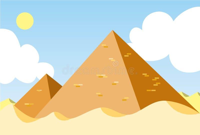 La pirámide de Egipto stock de ilustración