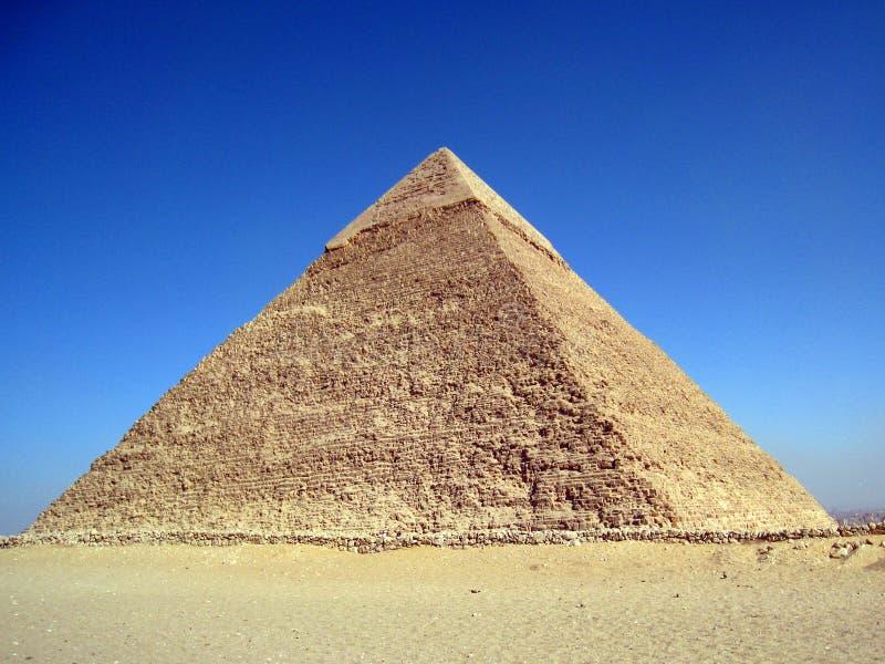 La piramide di Khafre a Giza, Cairo fotografie stock