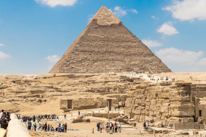 La piramide di Khafre il secondo più esteso delle piramidi di Giza, Egitto immagini stock libere da diritti