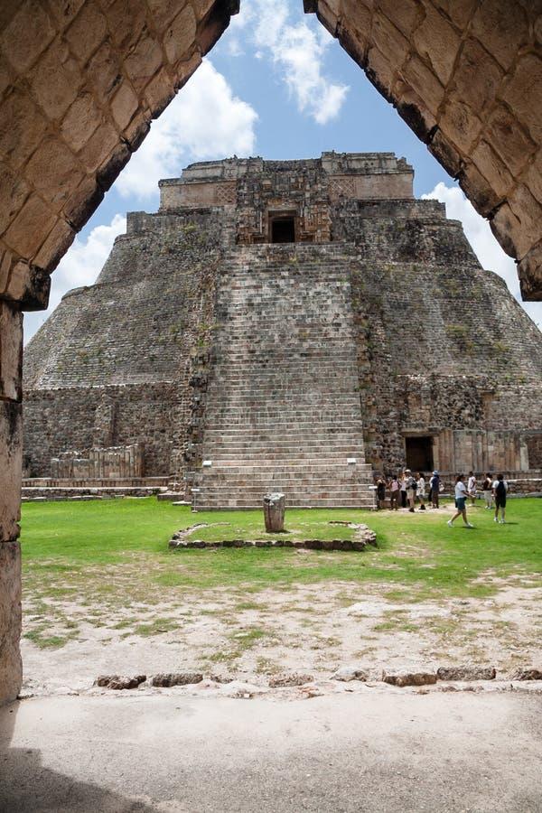 La piramide Uxmal Yucatan Messico dei maghi fotografia stock
