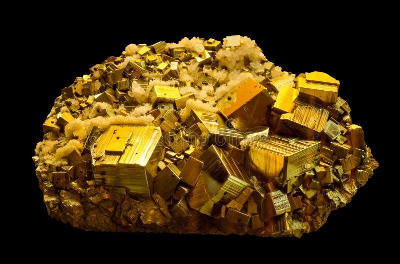 La pirita mineral, o pirita de hierro foto de archivo libre de regalías