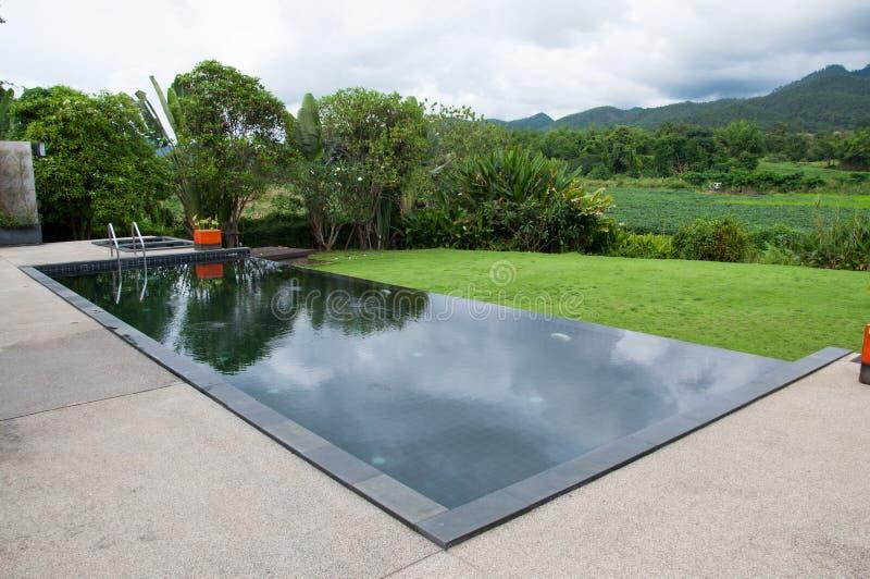 la piscina nera immagine stock immagine di domestico