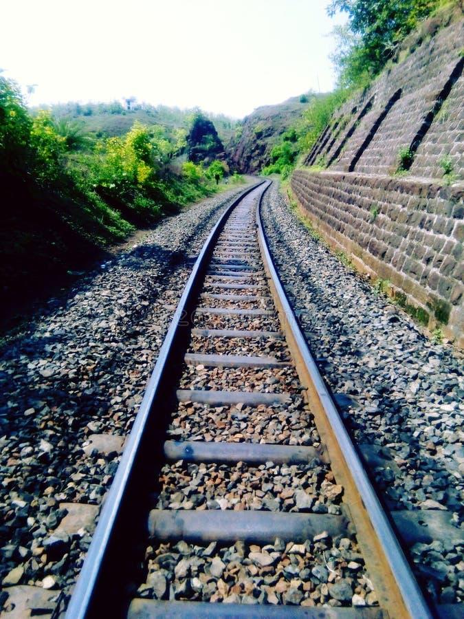 La pista ferroviaria foto de archivo