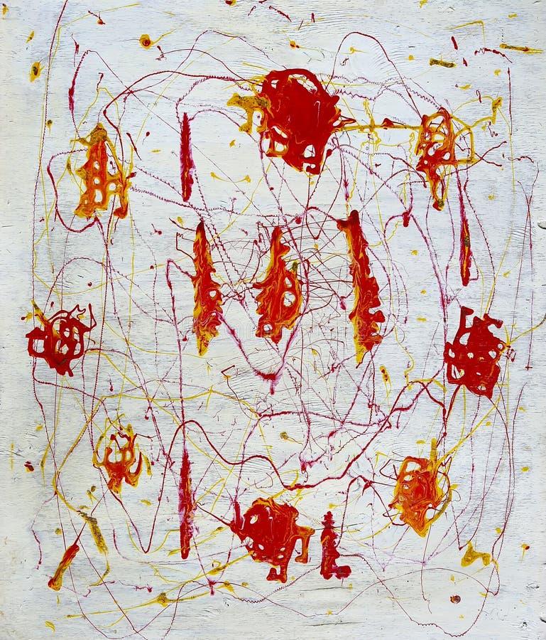 La pittura astratta ha chiamato il periodo di fuoco illustrazione vettoriale