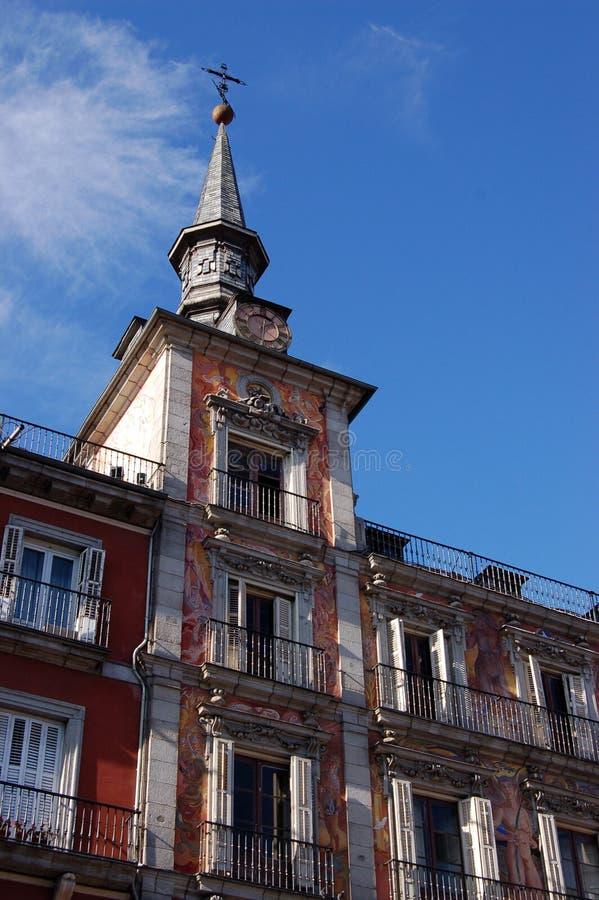 La pittura murala di maggiore della plaza a Madrid, Spagna fotografia stock libera da diritti