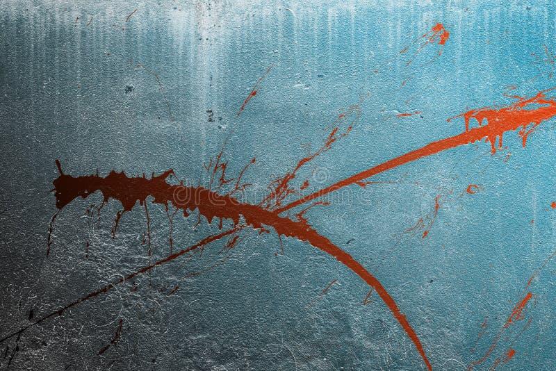 La pittura spruzza sulla facciata fotografie stock libere da diritti