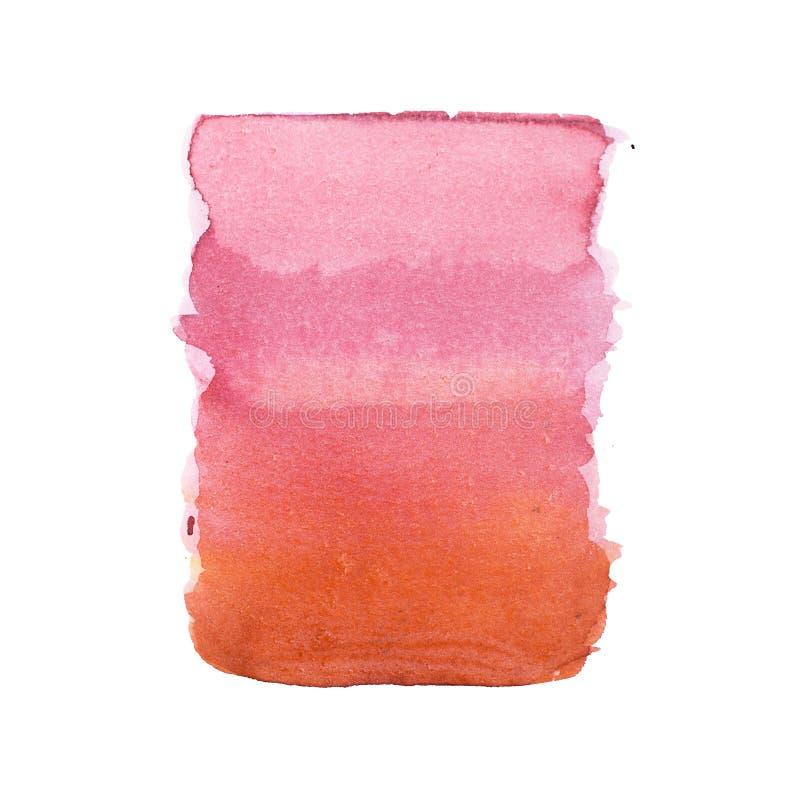 La pittura variopinta disegnata a mano di arte di forme dell'acquerello astratto dell'acquerello schizza la macchia su fondo bian fotografie stock