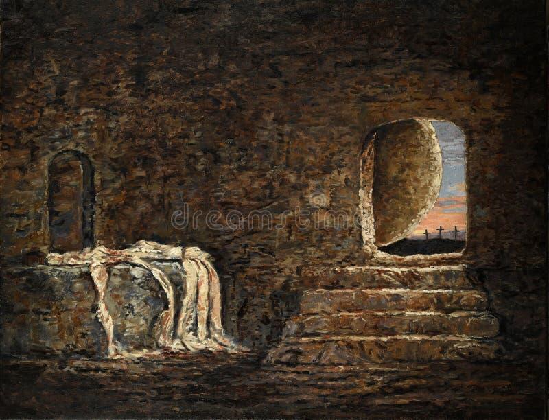 La pittura vuota della tomba immagini stock