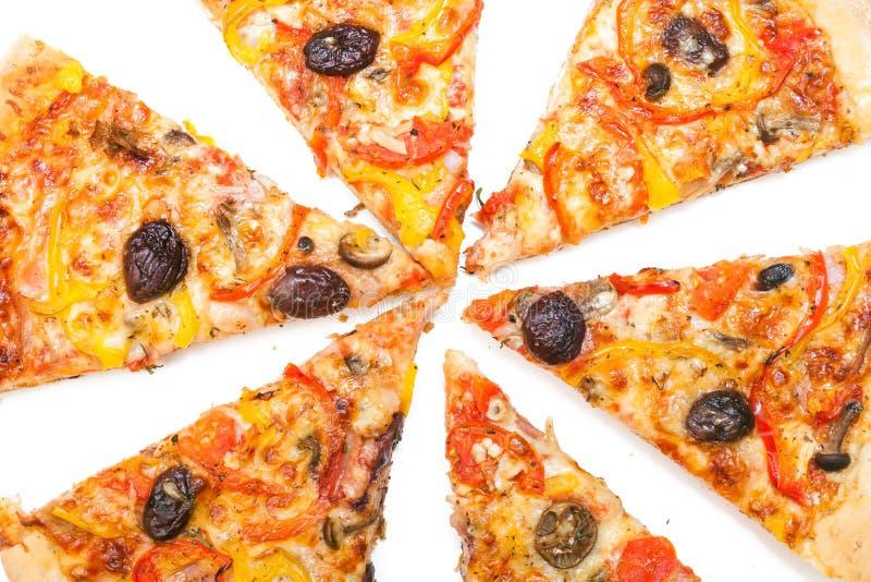 Download La Pizza Cortó En Rebanadas Foto de archivo - Imagen de jamón, participe: 42427614