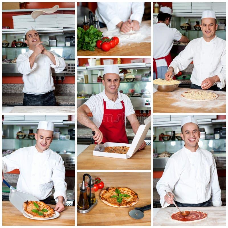 La pizza délicieuse sont prête ! photos stock